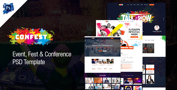 ConFest – Multi-Purposes Event and Conference PSD Template