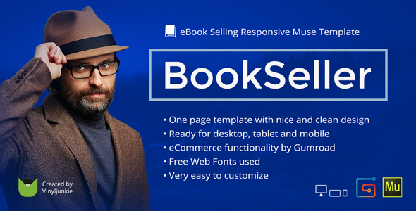 BookSeller - eBook Selling Responsive Muse Template
