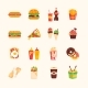 Fast Food Cafe Menu Icons Set - GraphicRiver Item for Sale