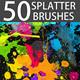 50 HQ Professional Splatter Brushes - GraphicRiver Item for Sale