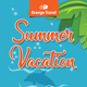 Summer Vacation Rollup Banner 79 - GraphicRiver Item for Sale