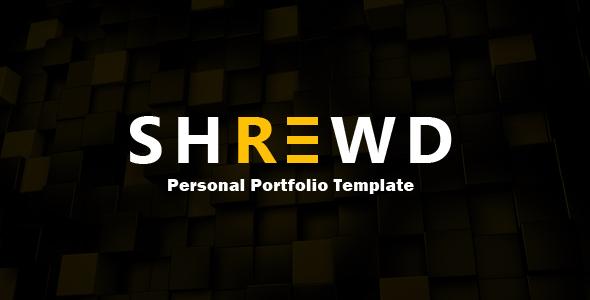 Shrewd – Personal Portfolio Template.