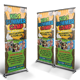 Kids Summer Camp Roll-up Banner - GraphicRiver Item for Sale
