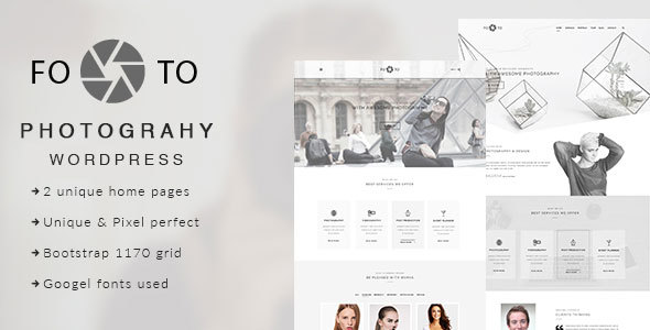 Footo Photography WordPress Theme