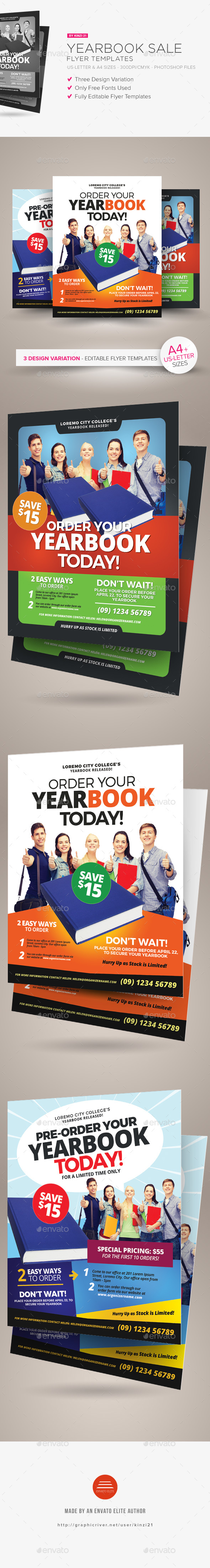 Yearbook Sale Flyer Templates - Commerce Flyers