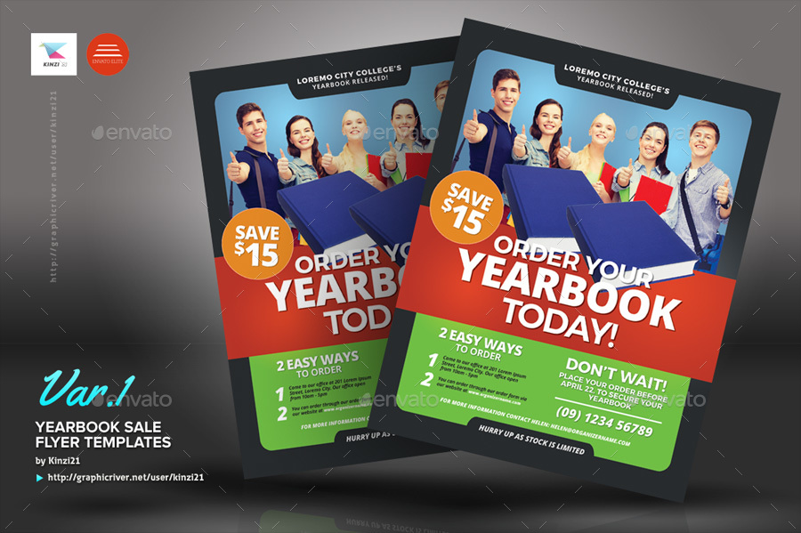 Yearbook Sale Flyer Templates by kinzi21 GraphicRiver