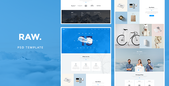 RAW – PSD Template
