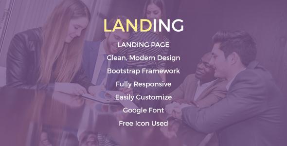 Landing Page / Creative Portfolio PSD Template
