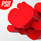 Hearts Background with Cutout Mockup - GraphicRiver Item for Sale