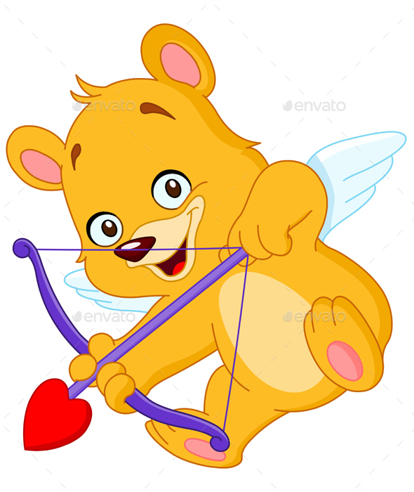 Cupid Teddy Bear - Valentines Seasons/Holidays