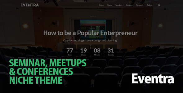 Eventra - Seminar, Meetups & Conferences WordPress Theme