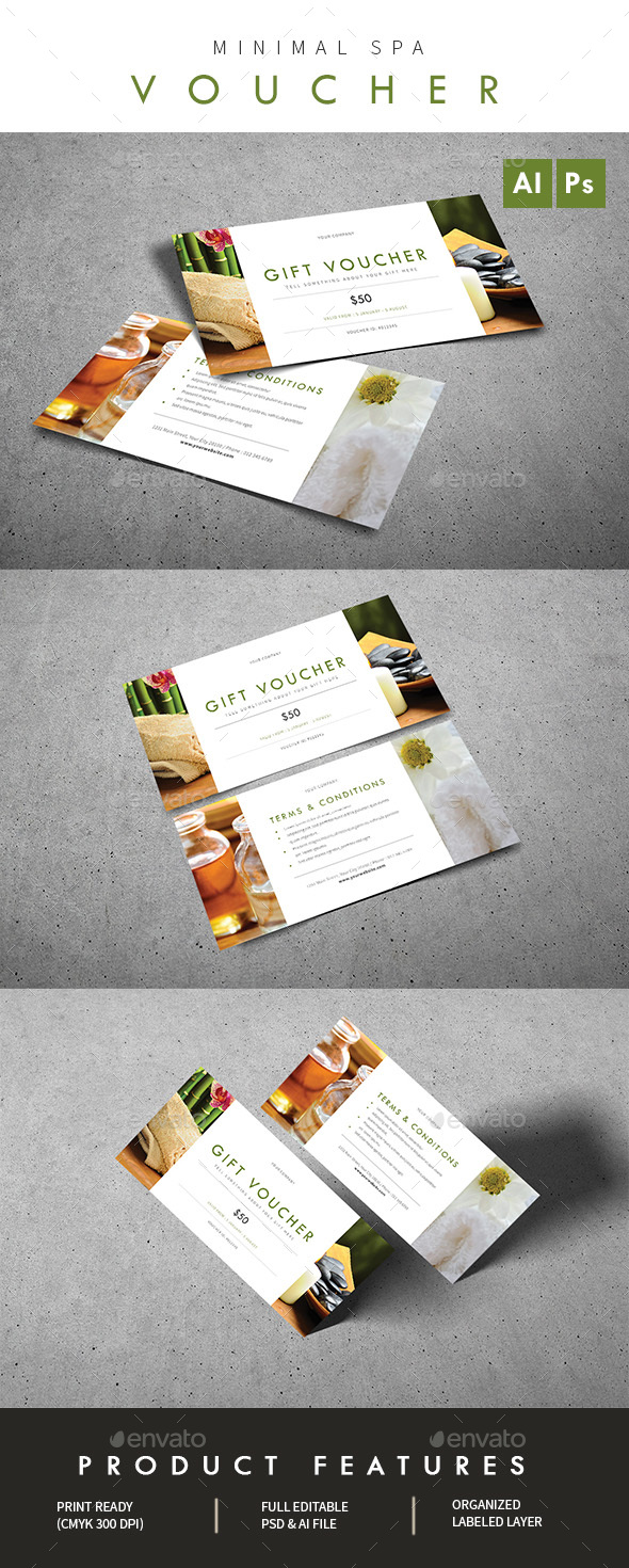 Minimal Spa Voucher - Loyalty Cards Cards & Invites