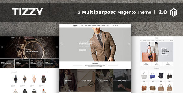 Tizzy – Multipurpose Responsive Magento2 Theme | Fashion Store | Watch Store | Cosmetic & Bag Store