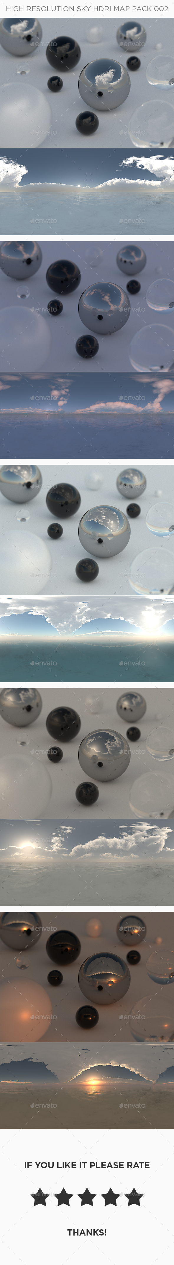 5 High Resolution Sky HDRi Maps Pack 002 - 3DOcean Item for Sale
