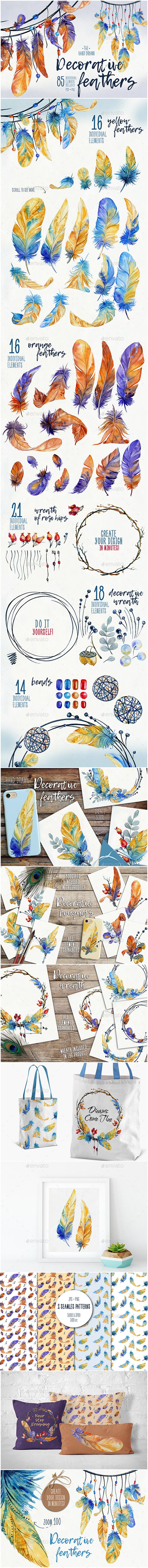 Decorative Feathers - Decorative Graphics