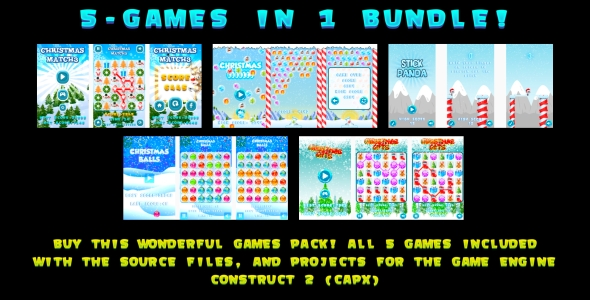 5-GAMES IN 1 BUNDLE! (CAPX) - CodeCanyon Item for Sale