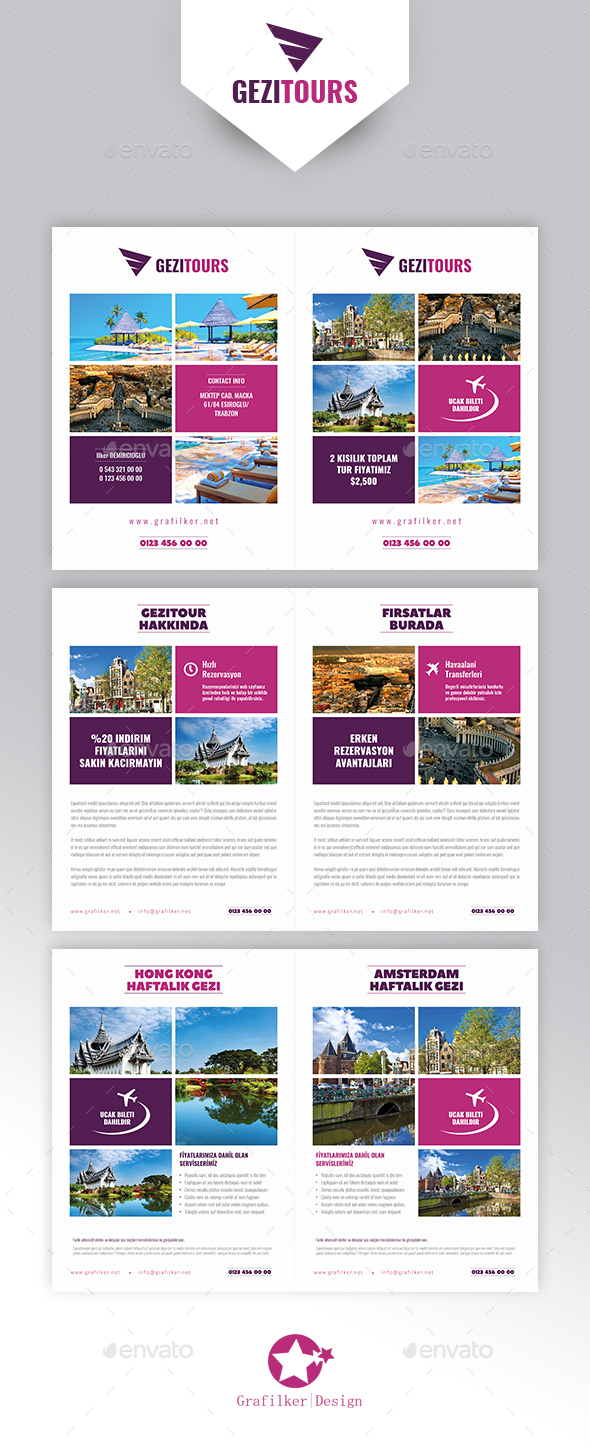 Travel Tours Brochure Templates - Brochures Print Templates