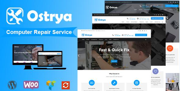 Ostrya - Computer Repair Service WordPress Theme