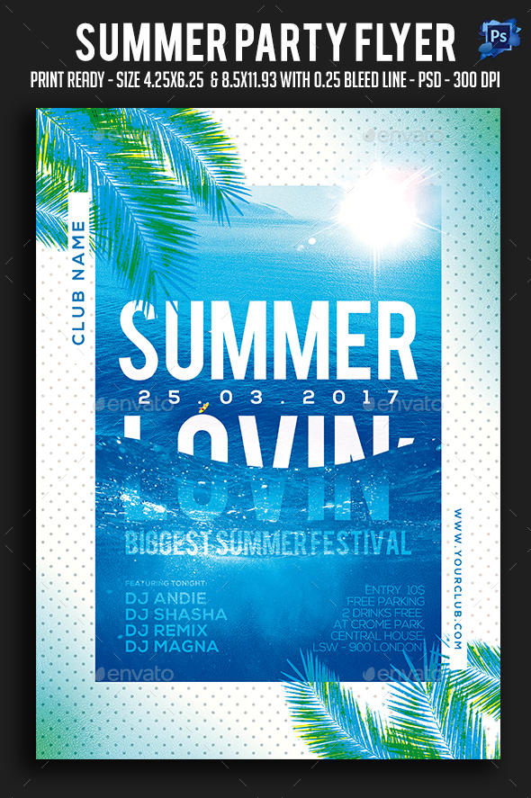 Summer Party Flyer - Holidays Events
