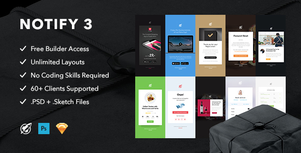 Notify3 – Notification Email + Themebuilder Access