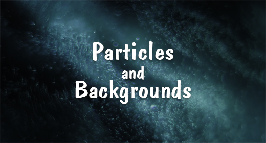 Particles and Backgrounds