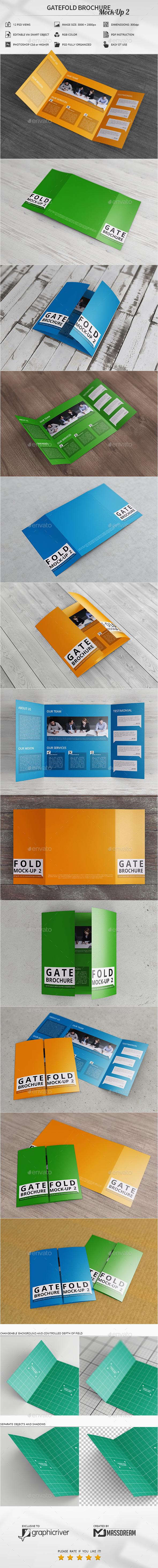 Gatefold Brochure Mock-Up 2 - Brochures Print