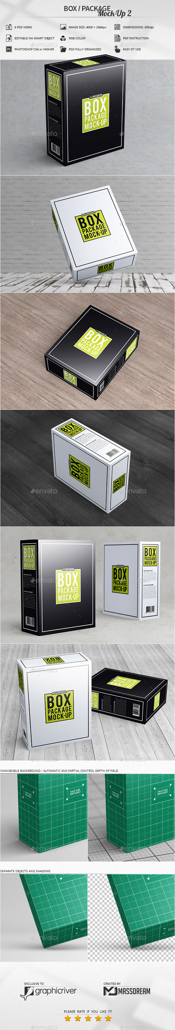 Box / Package Mock-Up 2 - Print Product Mock-Ups