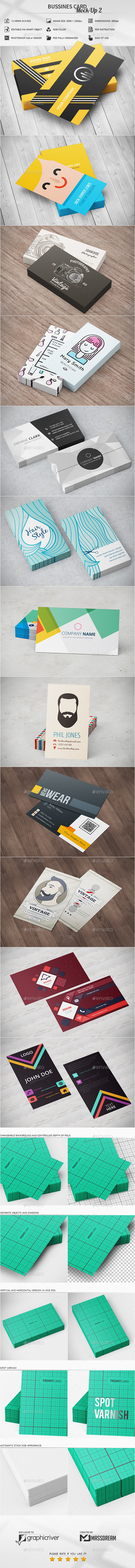 Bussines Card Mock-Up 2 - Business Cards Print