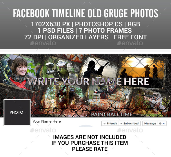 Facebook Timeline  Old Grunge Photos - Facebook Timeline Covers Social Media