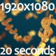 Currency Symbol Fall on Camera - VideoHive Item for Sale