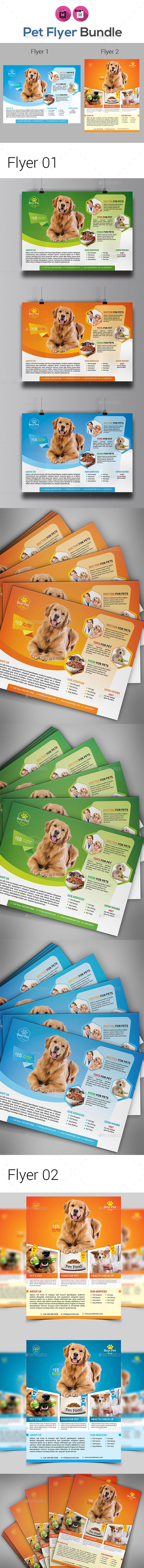 Pet Shop Bundle Templates - Corporate Flyers