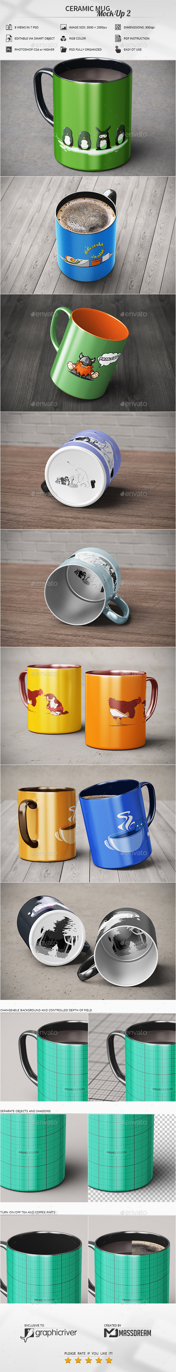 Ceramic Mug Mock-Up 2 - Food and Drink Packaging