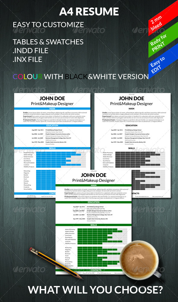 A4 Resume - Resumes Stationery