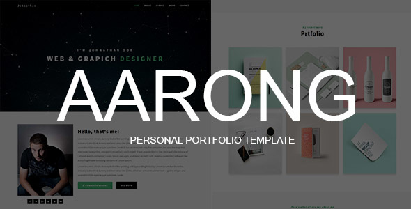 Aarong - Personal Portfolio Template