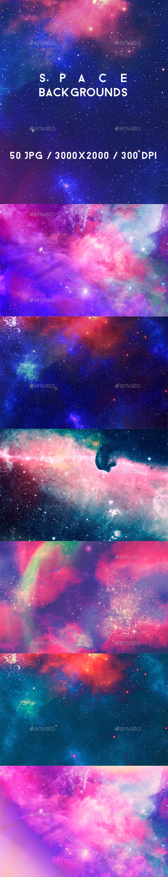 50 Space Backgrounds - Abstract Backgrounds