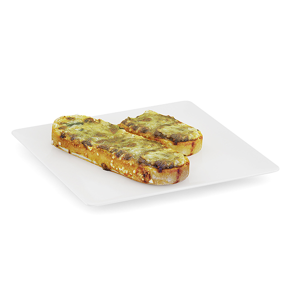 Casserole on Bread - 3DOcean Item for Sale