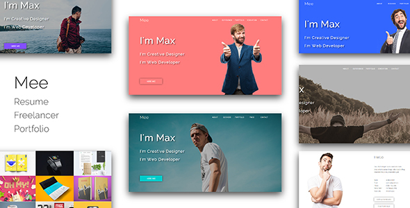 Mee_Resume / Freelancer / Portfolio Responsive Muse Template