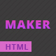 Maker - Personal HTML Template For Creative Professionals