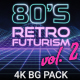 80s Retro Futurism Background Pack vol.2 4K - VideoHive Item for Sale