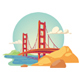 Golden Gate Bridge San Francisco - GraphicRiver Item for Sale