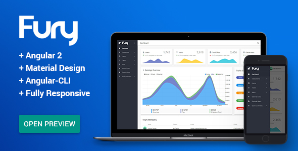 Fury – Angular 2 Material Design Admin Template