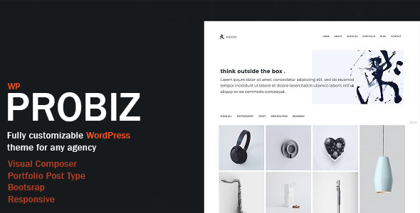 Probiz – Minimal WordPress Theme