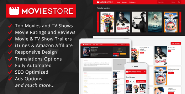 MovieStore - Movies and TV Shows Affiliate Script - CodeCanyon Item for Sale