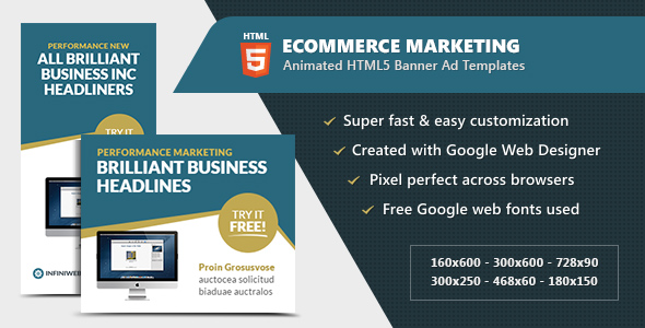 eCommerce Marketing Banners - Animated HTML5 GWD - CodeCanyon Item for Sale