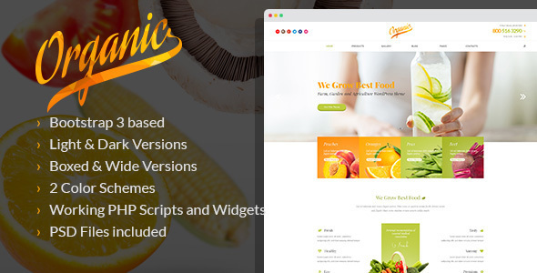 Organic - Farm, Garden and Agriculture WordPress Theme