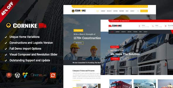Cornike – Multi-Concept Business WordPress Theme