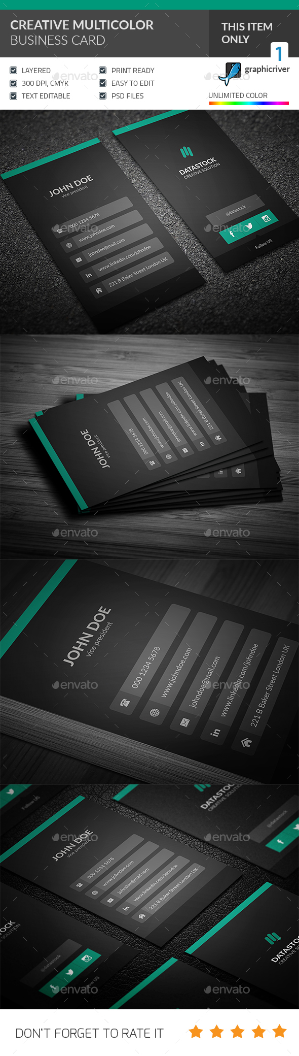 Modern UI Business Card - Corporate Business Cards