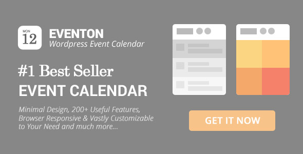 Eventon - Wordpress Event Calendar Plugin By Ashanjay | Codecanyon