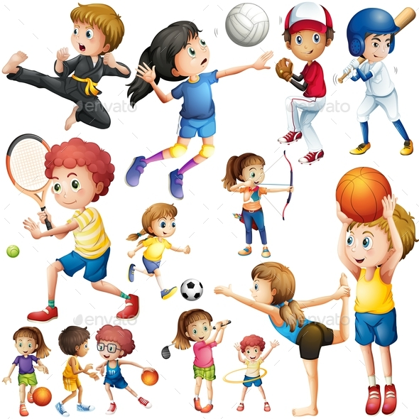 Children S Youth Sports: Children Doing Different Kind Of Sports By Interactimages