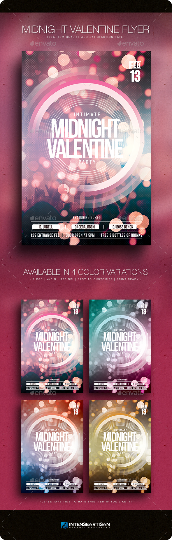 Midnight Valentine - Flyer Template
